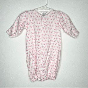 New kissy kissy convertible gown pink owls sz nb